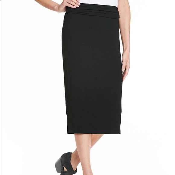 a6add6f15704 Eileen Fisher Skirts | Nwt Viscose Jersey Foldover Skirt | Poshmark